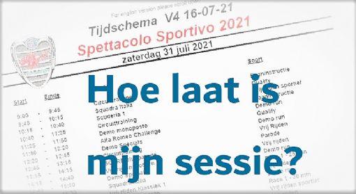 Programma / tijdschema Spettacolo Sportivo 2021 online