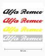 Sticker woord Alfa Romeo (60 cm)