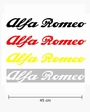 Sticker woord Alfa Romeo (45 cm)