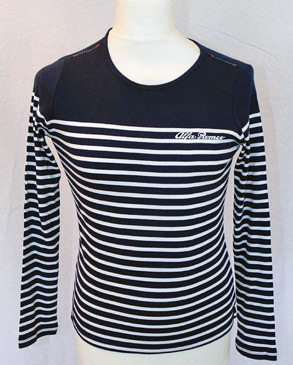 T-shirt navy-wit gestreept