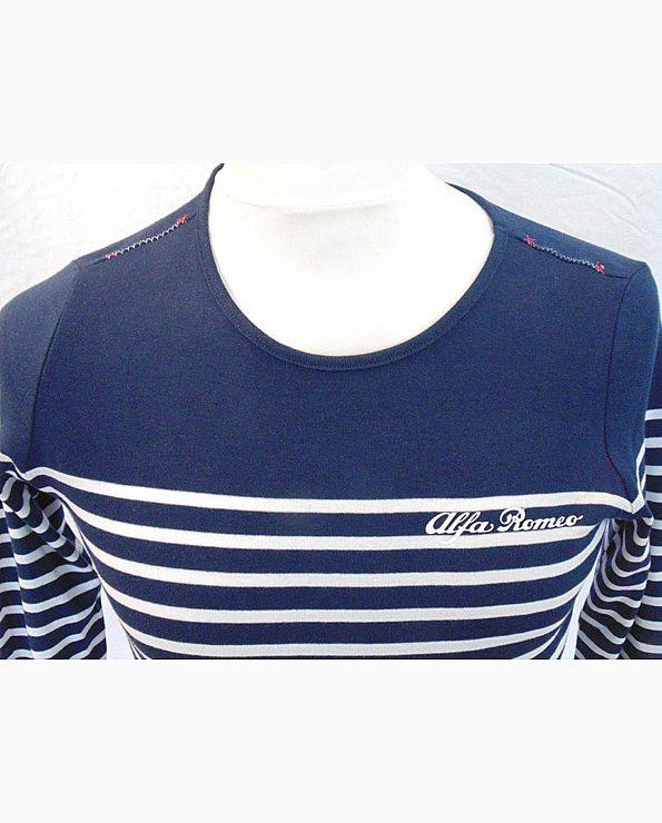 T-shirt navy-wit gestreept
