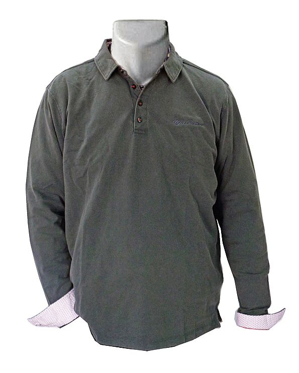 Polo antraciet, long sleeve