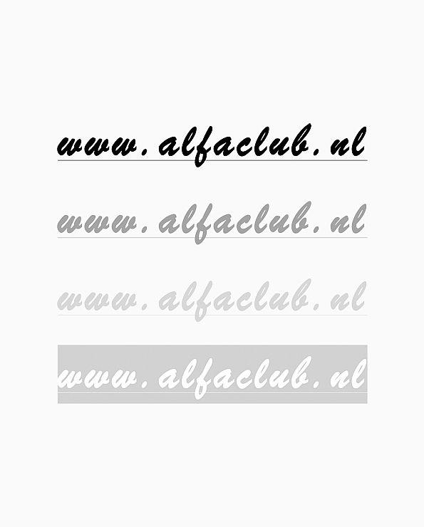 Sticker www.alfaclub.nl